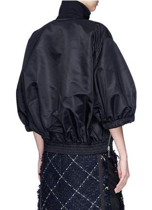 Back View - Click To Enlarge - Sacai - Puff sleeve side zip oversized jacket