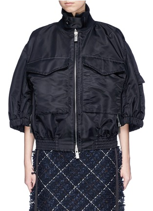 Main View - Click To Enlarge - Sacai - Puff sleeve side zip oversized jacket
