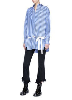 Sacai Lace-up stripe shirt