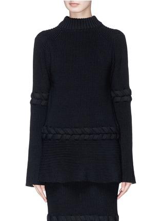 Main View - Click To Enlarge - Sacai - Braided rib knit sweater