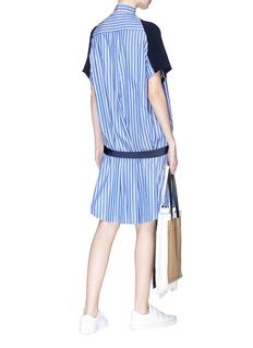 Sacai Knit panel stripe shirt dress