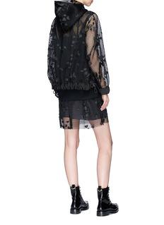 Sacai Heart motif mesh dress