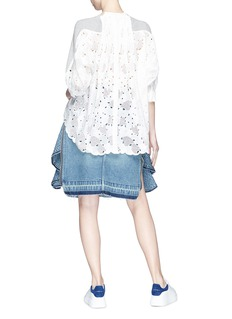 SACAI 爱心镂空纯棉针织衫