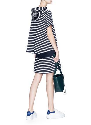 Figure View - Click To Enlarge - Sacai - Stripe hoodie dress