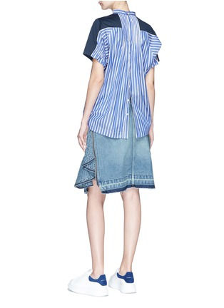 Figure View - Click To Enlarge - Sacai - Stripe back T-shirt