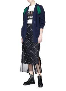 SACAI 编织条纹针织外套