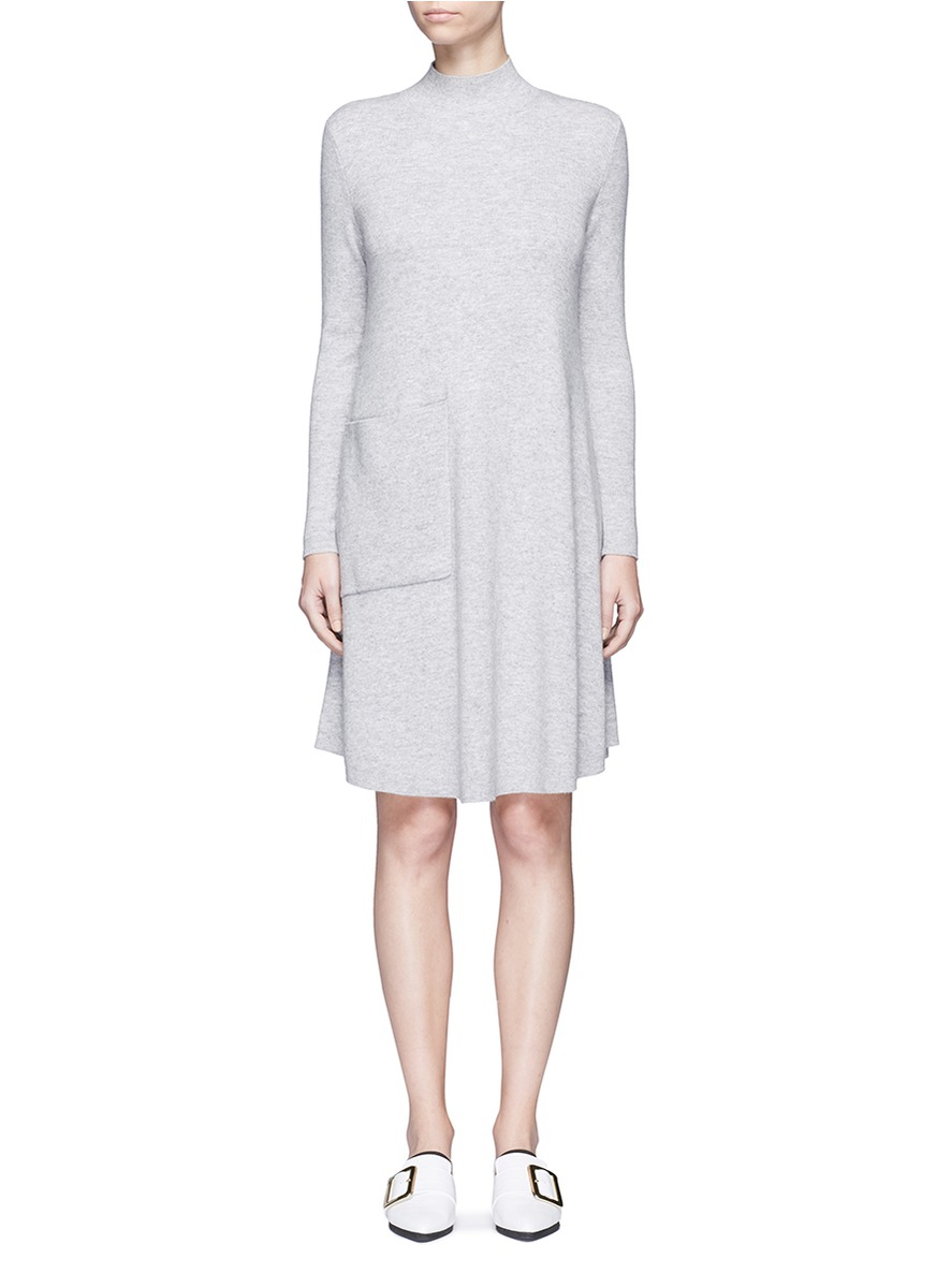 Pocket wool rib knit sweater dress by MO & CO. EDITION 10