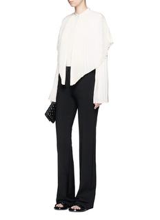 Stella McCartney'Carissa' pleated cape overlay silk shirt