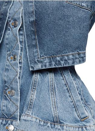 Detail View - Click To Enlarge - Alexander McQueen - Double layered peplum denim jacket