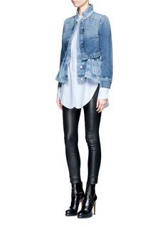 Alexander McQueenDouble layered peplum denim jacket