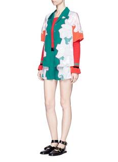 3.1 Phillip LimFloral surf colourblock silk shirt