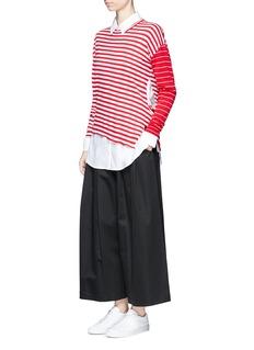 Ports 1961Stripe contrast sleeve sweater