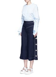 Stella McCartney'Laci' contrast stitch culottes