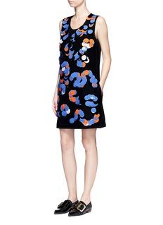 VICTORIA, VICTORIA BECKHAMPaillette embroidered micro faille shift dress