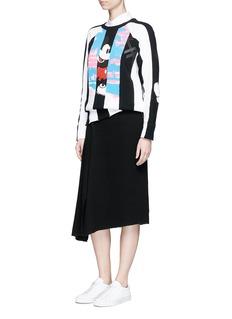Marc JacobsMickey Mouse stripe print colourblock sweatshirt