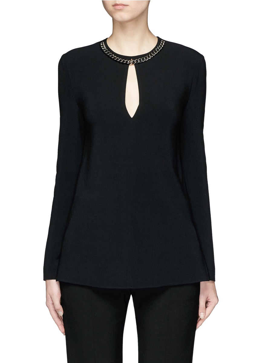 Curb chain keyhole front cady top by Stella McCartney