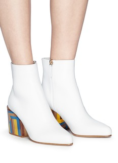Gabriela Hearst 'Tito' colourblock wood heel leather ankle boots