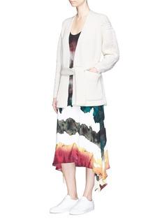 Acne Studios'Beate' chunky rib knit kimono cardigan