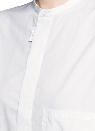 Detail View - Click To Enlarge - Acne Studios - 'Siva' pleat cuff cotton poplin shirt dress