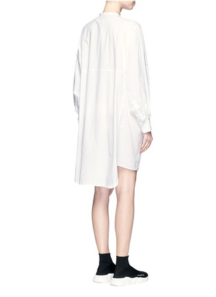 Back View - Click To Enlarge - Acne Studios - 'Siva' pleat cuff cotton poplin shirt dress