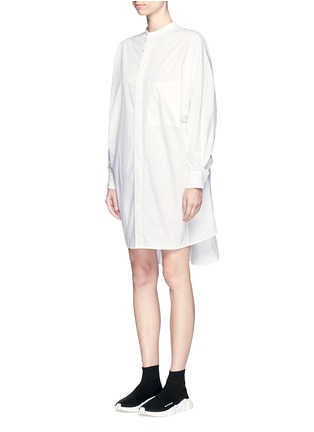 Front View - Click To Enlarge - Acne Studios - 'Siva' pleat cuff cotton poplin shirt dress