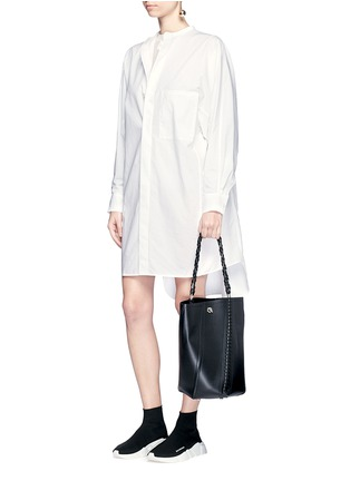 Figure View - Click To Enlarge - Acne Studios - 'Siva' pleat cuff cotton poplin shirt dress