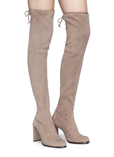 Stuart Weitzman 'Hi Line' stretch suede thigh high boots
