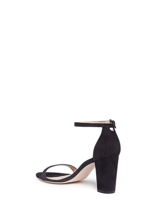 Detail View - Click To Enlarge - Stuart Weitzman - 'Nearly Nude' block heel suede sandals