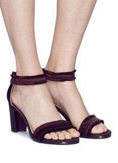 Stuart Weitzman 'Frayed' satin sandals