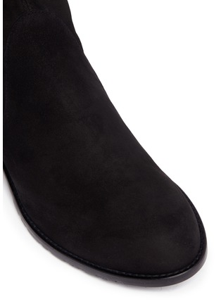 Detail View - Click To Enlarge - Stuart Weitzman - 'Low Land' stretch suede thigh high boots