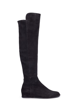 Main View - Click To Enlarge - Stuart Weitzman - 'Allday' suede thigh high boots