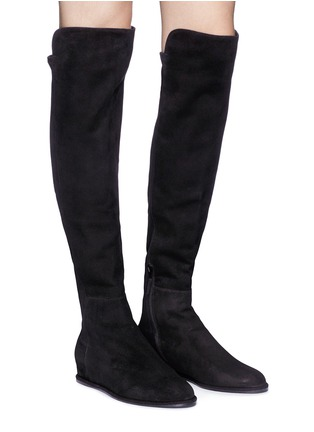 Figure View - Click To Enlarge - Stuart Weitzman - 'Allday' suede thigh high boots