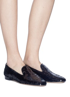 Stuart Weitzman 'Pipearky' sequinned loafers