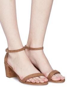 Stuart Weitzman 'Simple' block heel suede sandals
