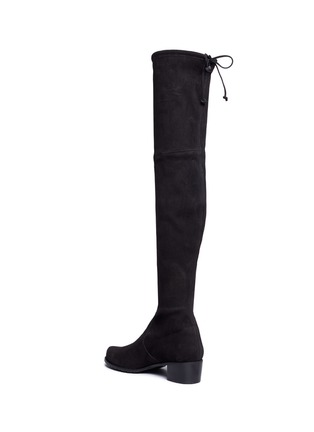 Detail View - Click To Enlarge - Stuart Weitzman - 'Mid Land' stretch suede thigh high boots