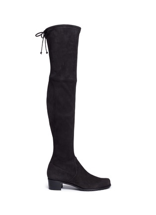 Main View - Click To Enlarge - Stuart Weitzman - 'Mid Land' stretch suede thigh high boots