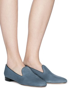 Stuart Weitzman 'Pipearky' suede loafers