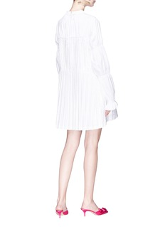Jourden Pleated poplin tunic dress