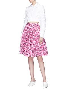 Jourden Floral print poplin skirt