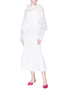 Jourden Ruffle guipure lace blouse