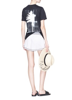 Double Rainbouu 'Palms' distressed print T-shirt