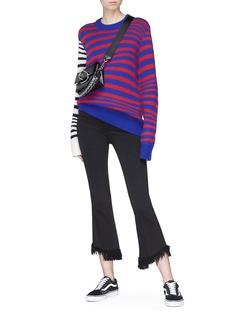 Double Rainbouu 'Ultrauuave' colourblock stripe Merino wool sweater