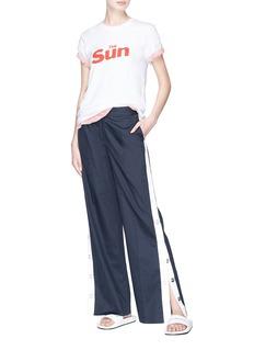 Double Rainbouu 'The Sun The Moon' slogan print T-shirt