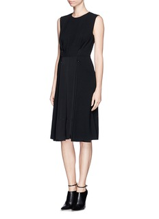 3.1 PHILLIP LIM Wool and silk pin-tuck dress