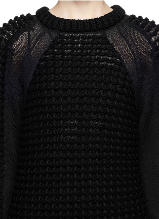 Detail View - Click To Enlarge - Helmut Lang - Pompom knit pullover