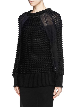 Front View - Click To Enlarge - Helmut Lang - Pompom knit pullover