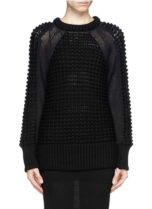 Main View - Click To Enlarge - Helmut Lang - Pompom knit pullover