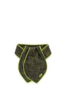 ALEXANDER WANG Paisley print pleat silk ascot tie