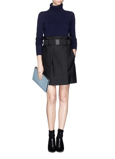 3.1 PHILLIP LIM Cinched waist skirt with belt buckle