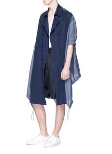 FFIXXED STUDIOS 拼接设计双排扣风衣外套